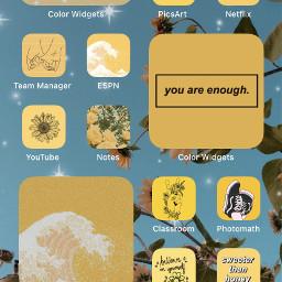 yellowaesthetic iphone11 positivevibes fcshowoffyourhomescreen showoffyourhomescreen