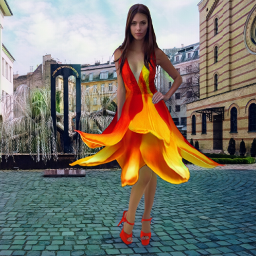 fashion fashionpose fashionart pose model dress gown heels highheels streets streetlife square plaza photoedit photoart loveandkisses freetoedit