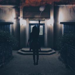girl dark photography remixed