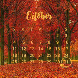 fall autum october leaves fallleaves autumnleaves calendar orange freetoedit srcoctobercalendar octobercalendar