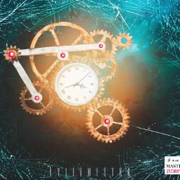 clock ice broken masterstoryteller star gears underwater edit thankyou happiness papicks picsart freetoedit