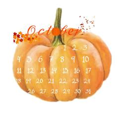 october fall calender punpkin freetoedit ranom cute halloween