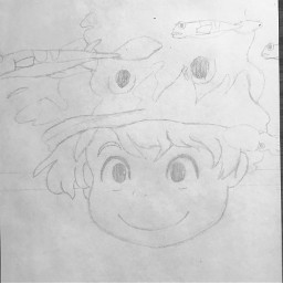drawing ponyo anime animedrawing ghibili ghibli ghiblistudio fish pencil art pencildrawing pencilart drawingart artdrawing inktober2020