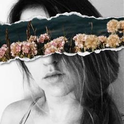 rip tear flowers face test freetoedit