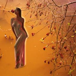 fall goddess rust yellow october freetoedit