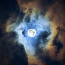 nature themoon fullmoon skywithclouds magicmoon freetoedit
