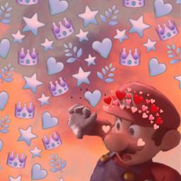 mario supermario smashbros smashbrosminecraft smashbrosmemes minecraft minecraftstevesmash heart wholesomemario