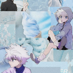 hxh hunterxhunter killua killuazoldyck gon gonfreeces matchingwallpapers wallpaper anime weeb otaku pastelblue blueaesthetic aesthetic pleasebenicetome