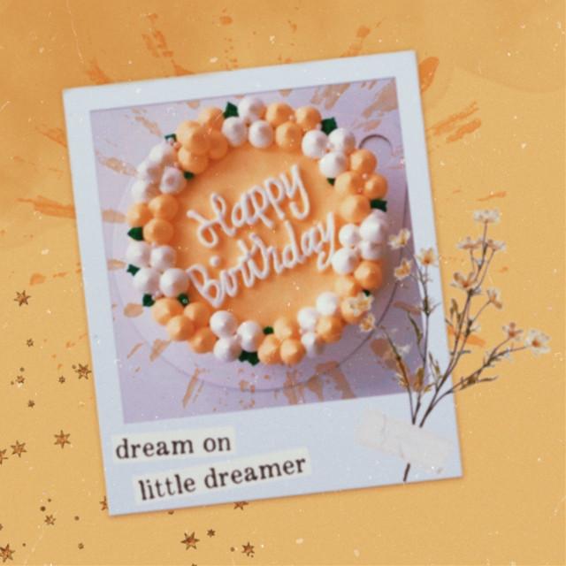 𝐈𝐭'𝐬 𝐦𝐲 𝐛𝐢𝐫𝐭𝐡𝐝𝐚𝐲!  ...............................................................  #freetoedit #vintage #vintageaesthetic #aestheticvintage #flowers #polaroid #yellow #yellowaesthetic #birthday #birthdaycake