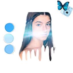 charlie blue azul freetoedit