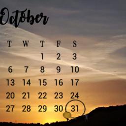 freetoedit myphoyo myedit tramonto calendario srcoctobercalendar