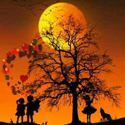 freetoedit createbyme moon night