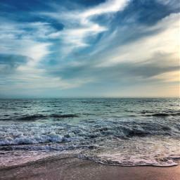 endoftheday atthebeach beachscenery beachvibes gloomyweather freetoedit