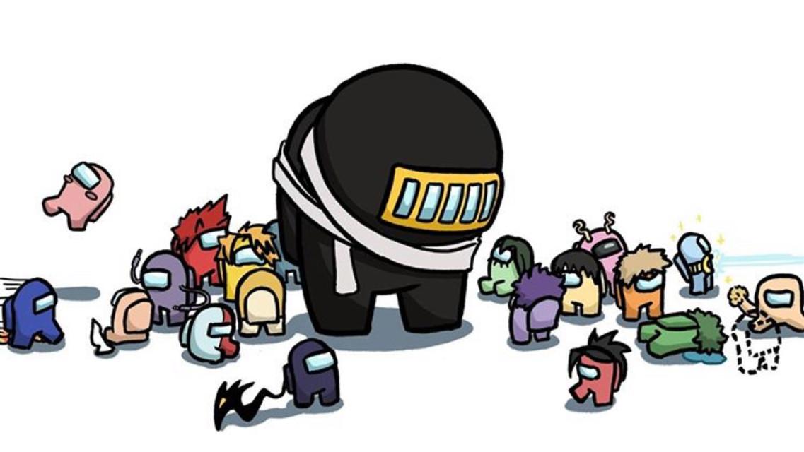 This is so cute!!      Art by anvasy on Tumblr #myheroacademia #bokunoheroacademia #deku #bakugou #todoroki #uraraka #iida #kaminari #tokoyami #sero #kirishima #mineta #tsuyu #yaoyorozu #jirou #mina #amongus #cute #meme #adorable #minicrewmate #anime #manga