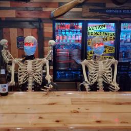 freetoedit skeletons covid humor mypic
