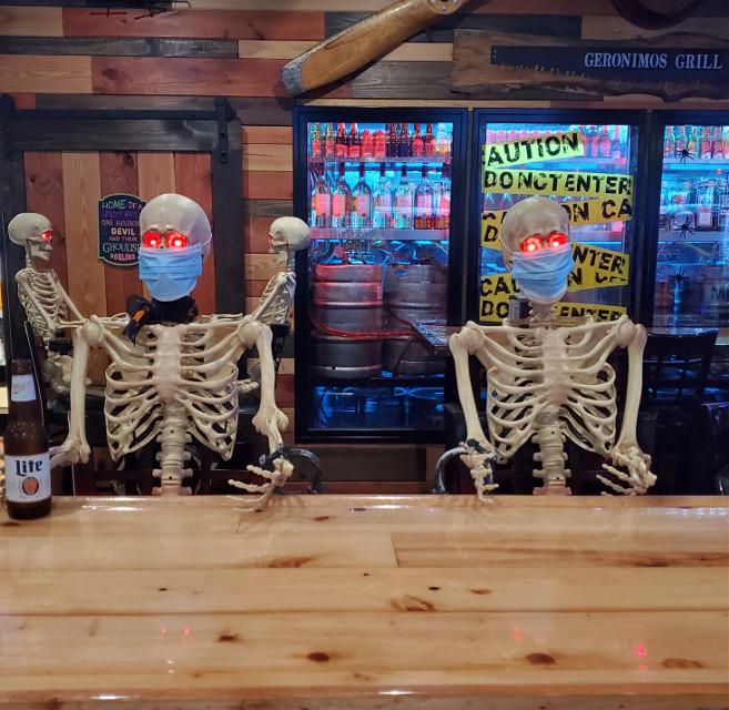My favorite bar today, lol!💀💀💀💀 #skeletons #covid #humor #mypic