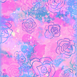 freetoedit glitter sparkle galaxy flowers floral roses pattern nature art pink purple pastel cute vintage background overlay