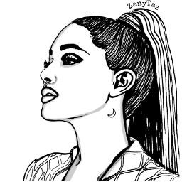 freetoedit drawing arianagrande blackandwhite color