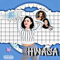 hwasa hwasedit kpop mamamoo freetoedit maria hwasamaria kpopposts startist blue blueaesthetic hwasamamamoo mariaedit mamamoohwasa
