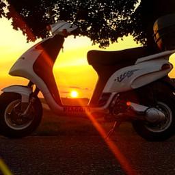 scooter sunset sunshine sunlight nrg