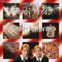 fredweasley georgeweasley fredandgeorgeweasley fredandgeorge weasley weasleytwins weasleys gryffindor harrypotter harrypotteredit weasleywizardwheezes ripfredweasley ripfred trouble thetrashmouth
