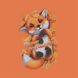 freetoedit happyoctober october october2020 cute funny animal verycute fall autumn orange orangeaesthetic