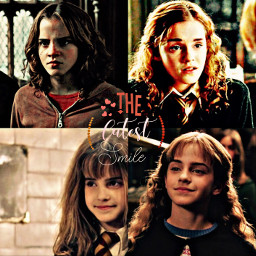 hermionegranger harrypotter emmawatson cute love lcvelyicons smile hogwarts dramione ronmione granger ibf freetoedit remixit phonto