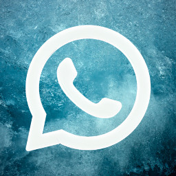 freetoedit aesthetic teal ios14 whatsapp logo app homescreen