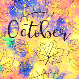 freetoedit glitter sparkle galaxy october fall autumn leaves nature pattern pastel seasons background overlay