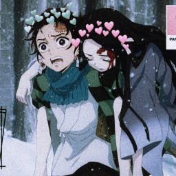 anime animeedit weeb kimetsunoyaiba demonslayer kny tanjirou kamadotanjirou nezuko kamadonezuko freetoedit