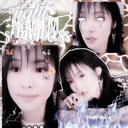 yuju gfriend shapeedit kpop goth halloween complexedit overlay complextext png