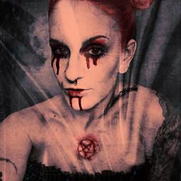 freetoedit halloween horror 666 screamqueen