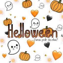 exemplodeesticker exemplo testando gostaram abobora abóbora fantasminha fantasma boo halloween coração preto branco laranja dicinhos freetoedit