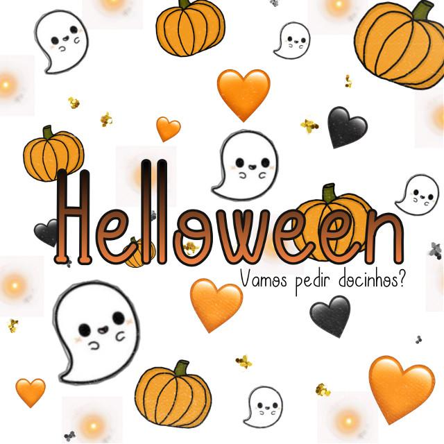 Um exemplo de como usar nosso mais novo sticker #exemplodeesticker #exemplo #testando #gostaram? #abobora #abóbora #fantasminha #fantasma #boo #halloween #Halloween #coração #preto #branco #laranja #dicinhos