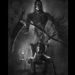 darkart blackandwhite reaper lostmymind
