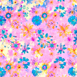freetoedit glitter sparkle galaxy flowers floral nature pattern daisies colorful pink pastel shimmer vintage background overlay