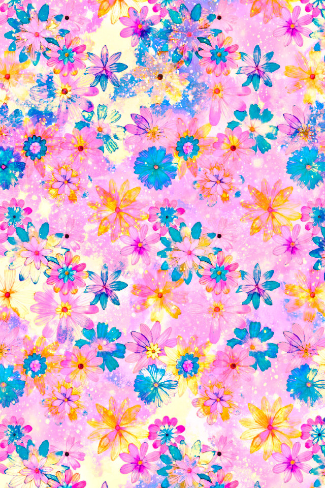 #freetoedit @mpink88 #glitter #sparkle #galaxy #flowers #floral #nature #pattern #daisies #colorful #pink #pastel #shimmer #vintage #background #overlay