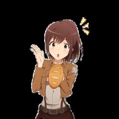 anime animegirl sashabraus attackontitan aot aotsasha aotanime attackontitansasha freetoedit
