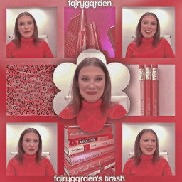 cute aesthetic pink pinkaesthetic adorable interview millie mills mbb milliebobbybrown milliebobbybrownedit edit aestheticedit compelxedit collage cool