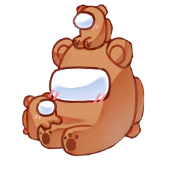 sticker amongus amongusbrown crewmate brown cute bears adorable uwu pretty astronaut freetoedit cool useitifyoulikeit