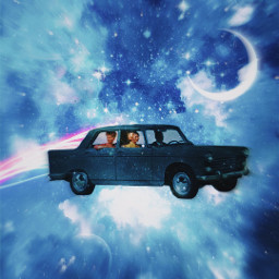 galaxy flying car people vintage loveit overlay stardust moon filters rainbow speed blur aesthetic vintageaesthetic time effort mask like background freetoedit