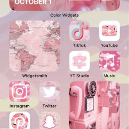 freetoedit pink aesthetic yea ios ios14 widget widgets widgetsmith tiktok youtube ytstudio instagram insta twittier snapchat pinterest messages phone facetime safari