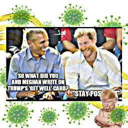 trump prince obama corinavirus covid_19 meme lol funny joke ecwaveaesthetic waveaesthetic freetoedit