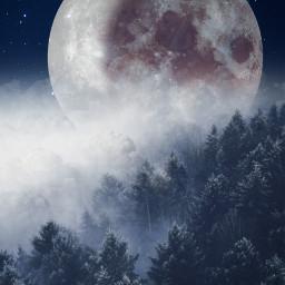 freetoedit unsplash landscape fullmoon background backgrounds night stars araceliss madewithpicsart