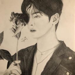 eunwoo chaeunwoo astro drawing kpop kpopdrawing handsome canheshare