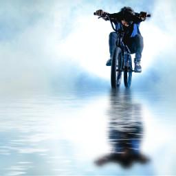 waterreflection water reflectioninwater sky cycling bicycleride freetoedit unsplash