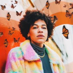 freetoedit buttefly wavy wavylines lines butterflies orangeaesthetic