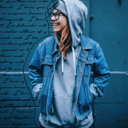 blue makeawesome replay words quotes letter sketch picsart myedit madewithpicsart heypicsart papicks noise effects picoftheday outline amile casual comfortable denim jeans hoodie girl freetoedit unsplash