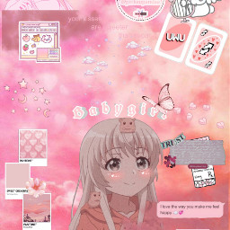 pink pinkhair pinkcolor pinkaesthetic aesthetic aesthetictumblr aestheticwallpaper wallpaper pinkwallpaper edit pinkedit girl cute pretty sweet vintage aestheticedit anime animeedits animegirl heart butterfly clouds pallete palette freetoedit