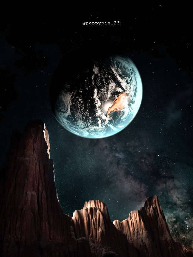 Earth above 🌎 #picsart #myedit #myremix #surreal #freetoedit #sky #photomanipulation #photoart #fxeffects #earthplanet #universe #mountains #unsplash @freetoedit @picsart